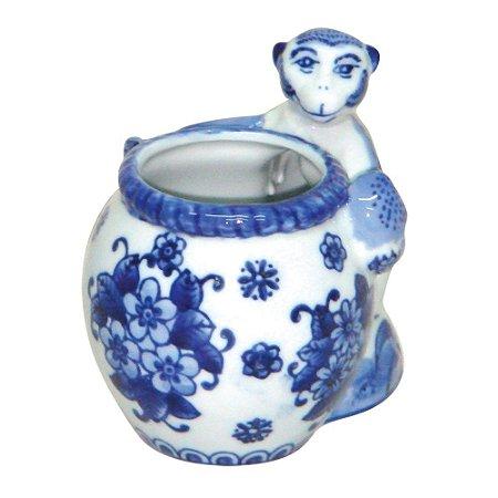 Vaso Macaquinho Azul