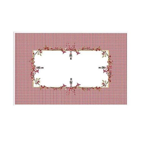 Toalha de mesa de Natal Guirlanda quadrada 2,10 x 2,10