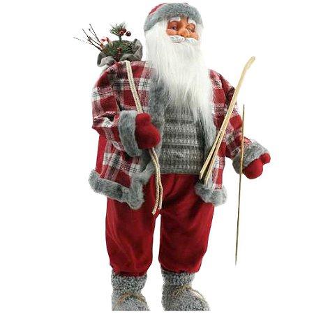 Papai noel Xadrez com esqui 90 cm