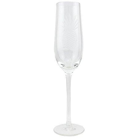 Taça Champagne Lapidada Abacaxi (jogo com 6)