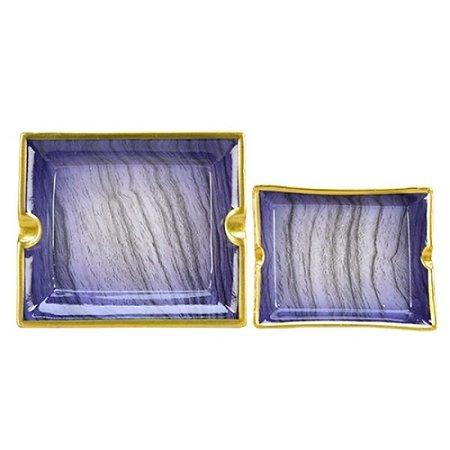 Cinzeiro marmorizado (jogo com 2)