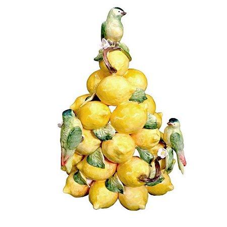 Árvore de Limões Sicilianos e Pássaros