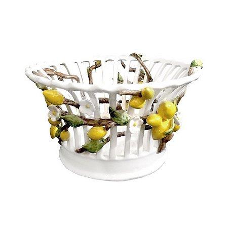 Cachepot Rendado de Flores e Limões Sicilianos