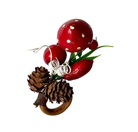 Porta Guardanapo Cogumelos de Natal