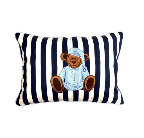 Capa de Almofada listrada ursinho Sleepy Bear