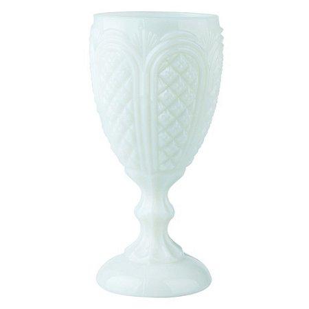 Taça Milk Glass/Opalina Branca (cj com 6tacas)