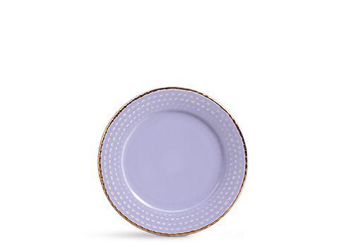 Prato sobremesa escamas lilás