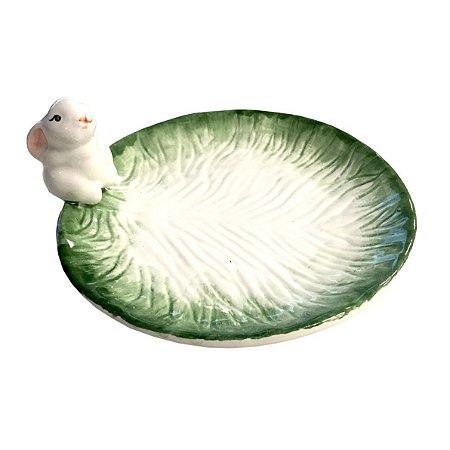 Prato Coelhinho com Borda Verde