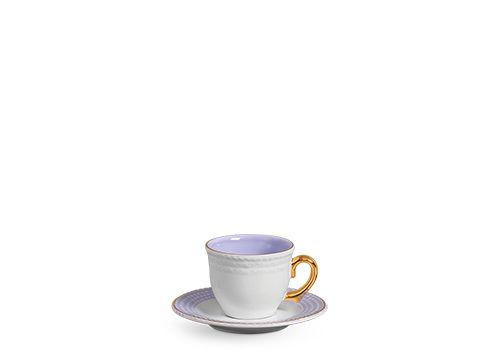 Xícara Chá Escamas Lilás