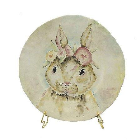 Prato sobremesa Coelha Lady Bunny Zanatta Casa