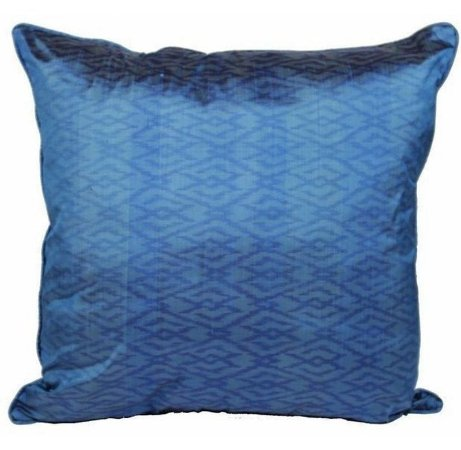 Capa de Almofada Étnica Azul Celeste Seda 48x48 cm