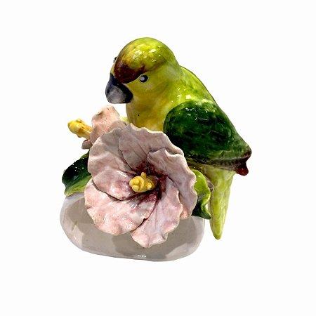 Porta Guardanapo Hibisco e Pássaro