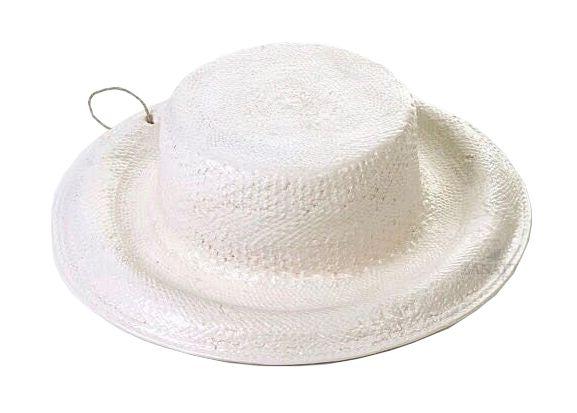 Chapéu com aba faiança Branco Zanatta Casa
