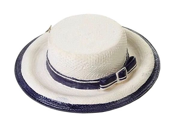 Chapéu fosco com fita e fivela azul cobalto Zanatta Casa