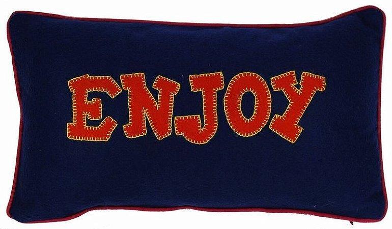 Capa de Almofada bordada Enjoy