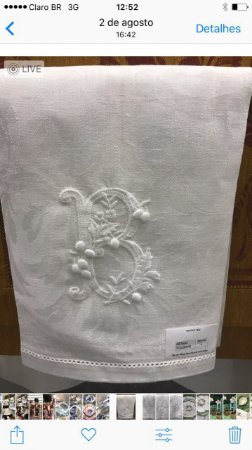 Toalha de Lavabo Nomenclatura Bolinhas