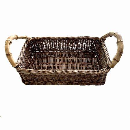 Cesto para pão com alça de Bambu