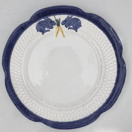 Prato Coelho Azul com Cenoura (sobremesa +raso)