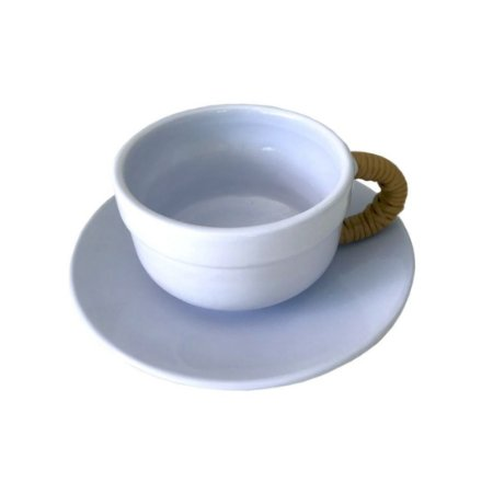 Xícara de Chá Azul Clara