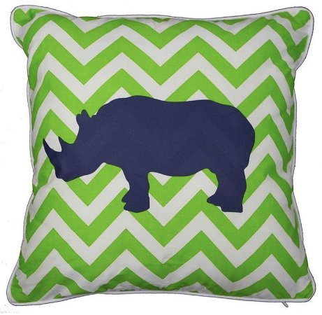 Capa de Almofada Rinoceronte Chevron 40x40 cm (mais cores)