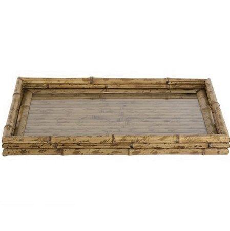 Bandeja Bambu com vidro G