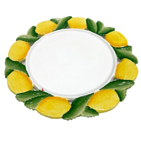 Prato raso/ sousplat com Borda de Limão Siciliano Zanatta Casa