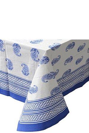 Toalha de Mesa Paisley Azul (1,80x1,80)