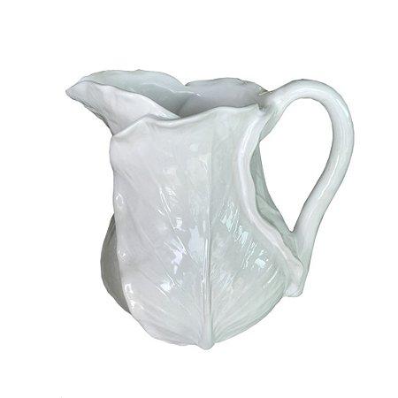 Jarra de cerâmica Couve Branca