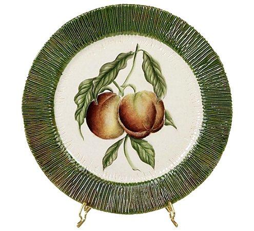Conjunto 6 Pratos / Sousplats de frutas em cerâmica Zanatta Casa