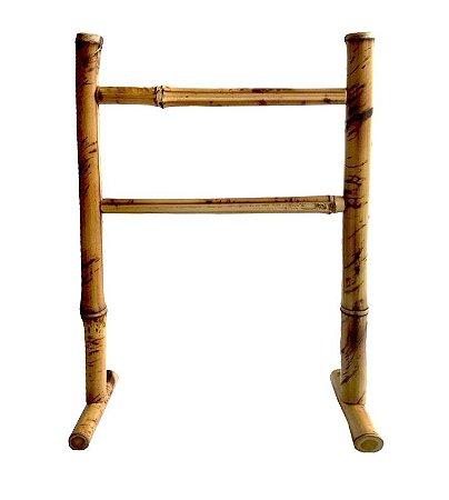Porta Toalha de Bambu Natural