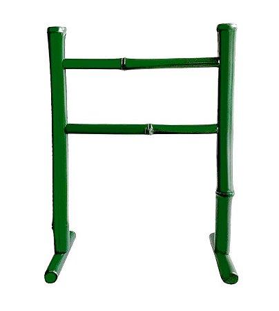 Porta Toalha de Bambu Verde Escuro
