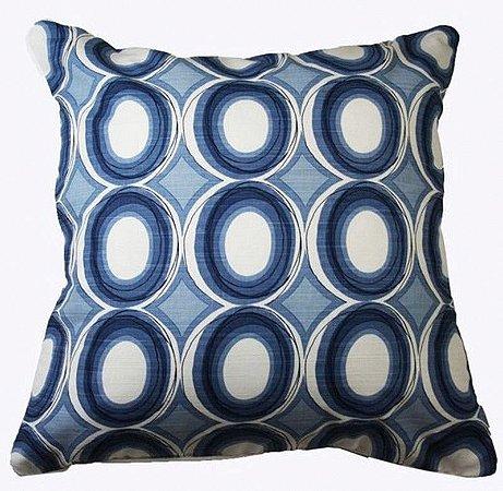 Capa de Almofada círculos azuis 50x50 cm