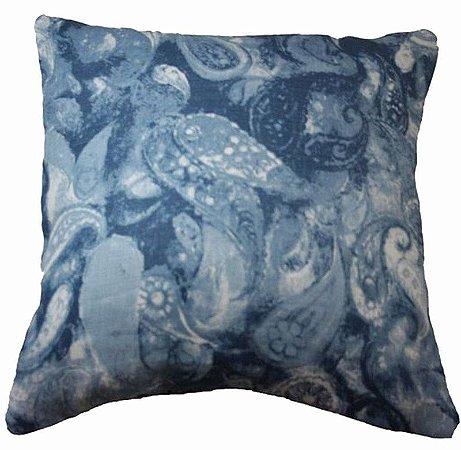 Capa de Almofada Paisley azul 50x50 cm