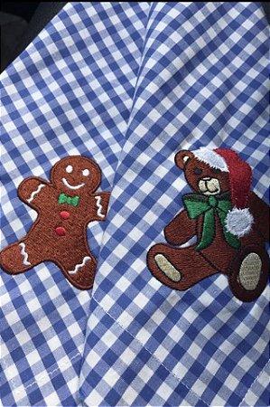 Guardanapos De Natal Urso e Ginger (12 peças)