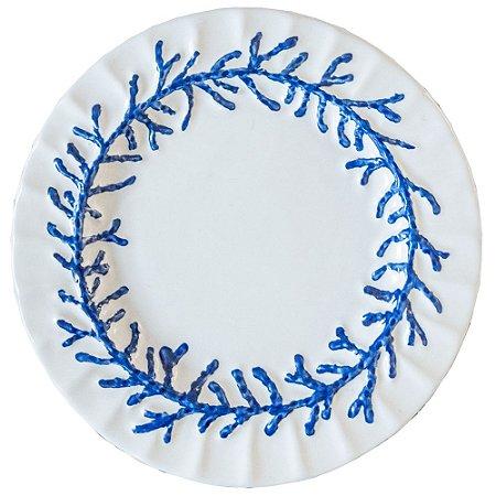 Prato raso Guirlanda de Coral Azul (cj com 2)