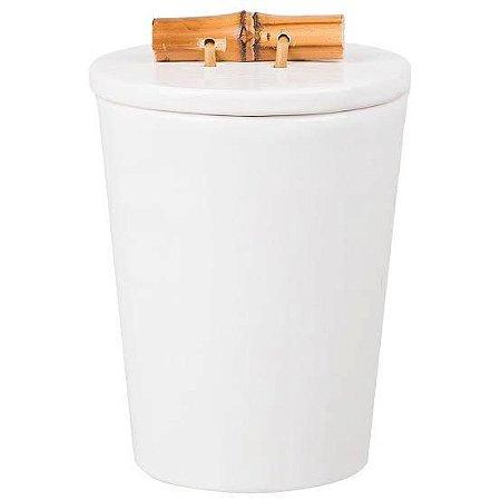 Porta Requeijão de Cerâmica com Bambu