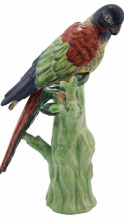 Pássaro de porcelana Colorido no Tronco