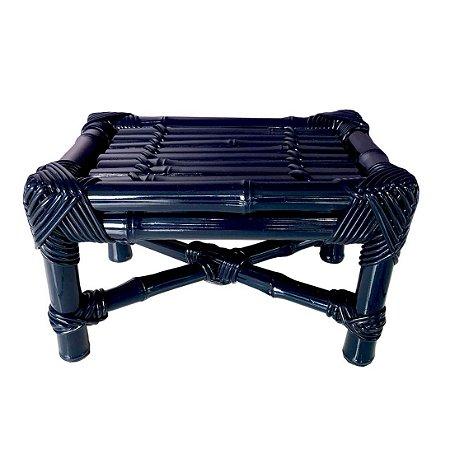 Banqueta de Bambu azul marinho M
