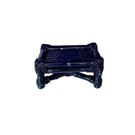 Banqueta de Bambu azul marinho P