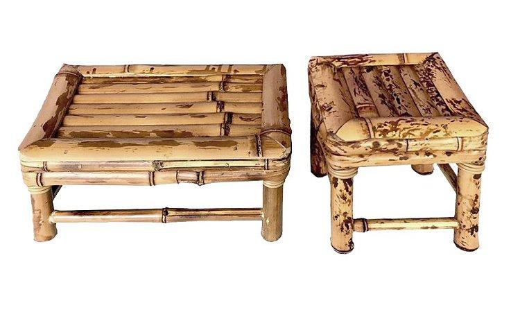Banquetas de Bambu PP e M