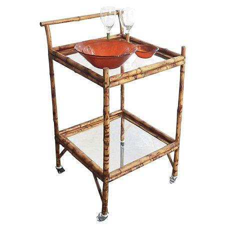 Carrinho de Chá/Bar de Bambu