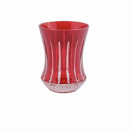 Copo Cristal Vermelho Polonês