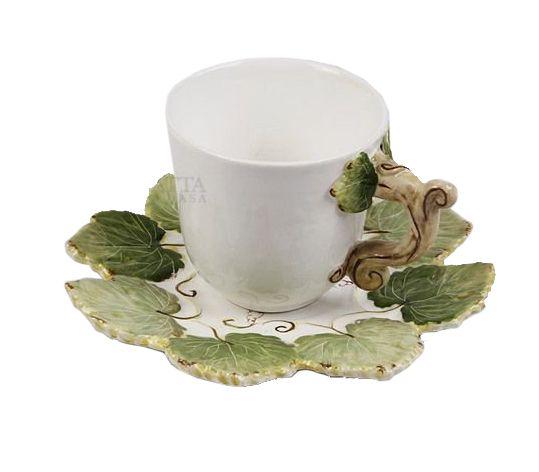 Xícara de Café Folhas de Uvas Zanatta Casa (Cj com 4)