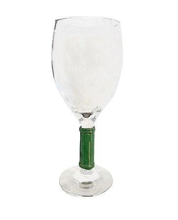 Taça Com Pé de Bambu Verde (cj com 2)