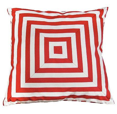 Almofada Optical Grande Vermelha 48 x 48