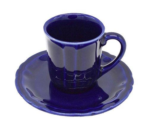 Xícara Chá e Prato Sobremesa Carbono Zanatta Casa (jogo com 6)