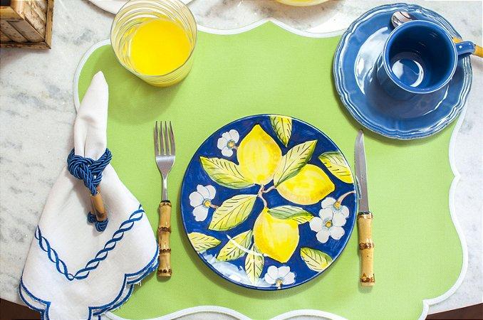 Prato sobremesa Limão Siciliano Azul