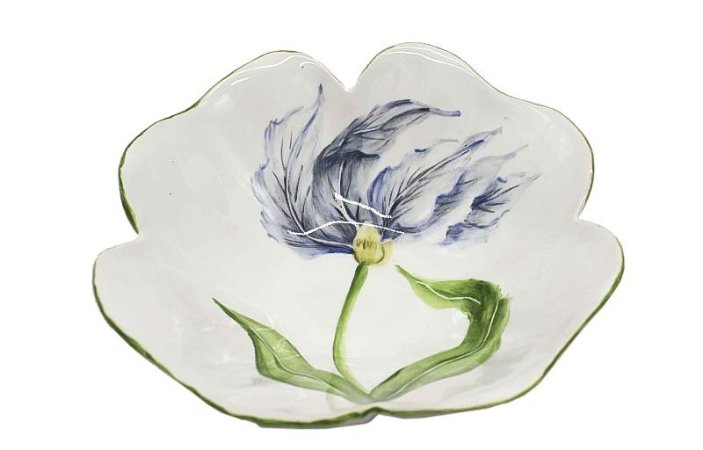 Bowl desenho tulipa azul Zanatta Casa