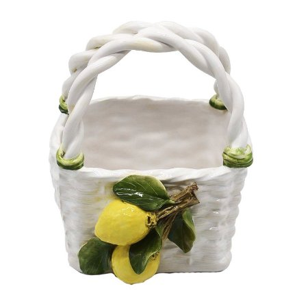 Cesta cerâmica limão siciliano Zanatta Casa