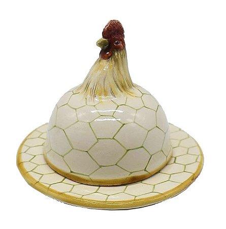 Manteigueira galo com telinha Zanatta Casa